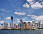 New York, Manhattan od strony Liberty island.